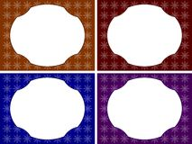 Star Frame Set Royalty Free Stock Images