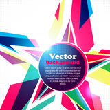 Star frame for your text. Abstract background. Vector Illustration of Star frame for your text. Abstract background Stock Image
