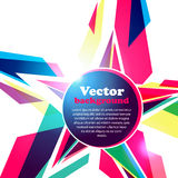 Star frame for your text. Abstract background. Vector Illustration of Star frame for your text. Abstract background Stock Illustration