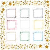 Star frames Stock Image
