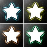 Star frames with light in background Stock Image