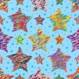 Star free draw line seamless pattern Royalty Free Stock Image