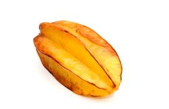 Star fruit. A star fruit, an exotic tropical delicacy also known as a carambola stock photos