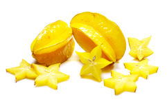Star fruit. (carambola), on a white background stock illustration