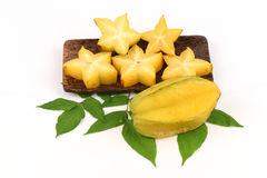 Star fruit (Averrhoa carambola L.) fruit. Stock Photography