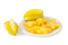Star fruit or Carambola Stock Images