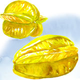 Star fruit - carambola  isolated Royalty Free Stock Images