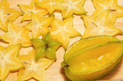 Star fruit,carambola  slice Stock Image