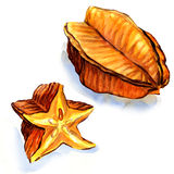 Star fruit - carambola Royalty Free Stock Image