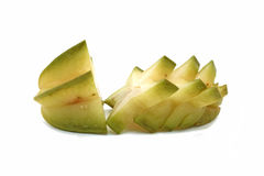 Star fruit - carambola. On white background Stock Photography