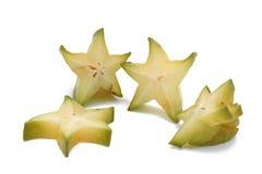 Star fruit - carambola. On white background Royalty Free Stock Images