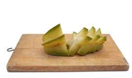 Star fruit - carambola. On white background Royalty Free Stock Image