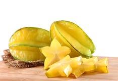 Star fruit or carambola on white background Stock Images