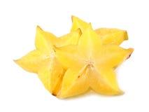 Star fruit or carambola on white background Stock Photography