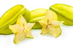 Star Fruit. Or carambola on a white background Stock Image