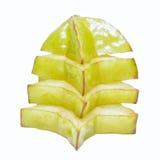 Star fruit or carambola on white background Royalty Free Stock Photo