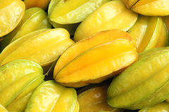 Star fruit. The close-up of ripe star fruit Royalty Free Stock Photo
