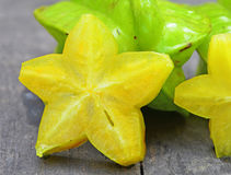 Star fruit. The star fruit is cut off Stock Photography