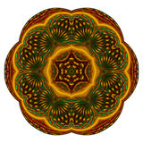 Star fruit mandala Royalty Free Stock Image