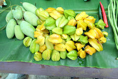 Star fruit and mango Royalty Free Stock Images