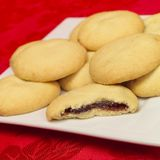 Star fruit mince biscuits. A plate of fruit mince biscuits Stock Images