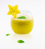 The star fruit shake on white bakcground. Royalty Free Stock Image