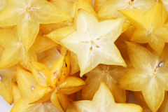Star fruit, starfruit, carambola full frame Stock Photography