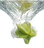 Star Fruit in water Stock Images