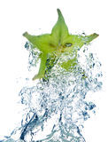 Star Fruit in water Stock Image