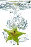 Star Fruit in water Stock Photo