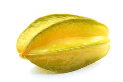 Star fruit. A star fruit on white background Royalty Free Stock Image