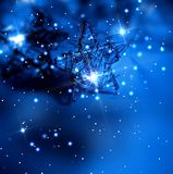 Star garland on dark blue background Stock Images