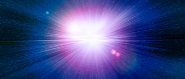 Star gate blue explosion in a galaxy of an universe. Stock Photos
