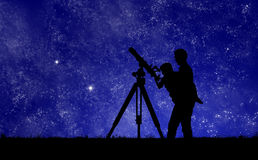 Star Gazing royalty free stock photo
