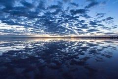 Star gazing and sunrise over lake bumbunga, lochiel`s pink lake, stock photography