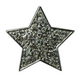 Star with gems isolated on the white Royalty Free Stock Photo