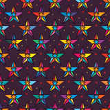 Star gift packaging seamless pattern Stock Photos