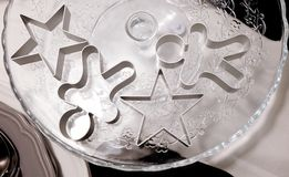 Star and Ginger Bread Man Cookie Cutters Royalty Free Stock Image