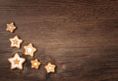 Star Gingerbread Cookies royalty free stock image