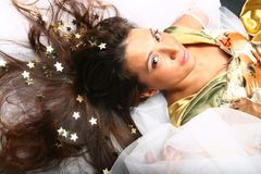 Star girl Royalty Free Stock Photo