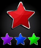 Star glossy button, icon. Royalty Free Stock Image