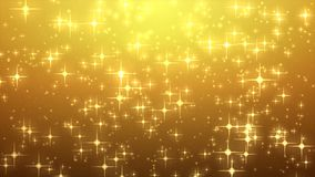 Star glow on gold background with bokeh effect, Out of focus, Co. Lorful lights bokeh on gold light, blur star motion graphic, Particle motion, ramp gradient Royalty Free Stock Photography