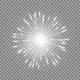 Star glow grey Royalty Free Stock Images