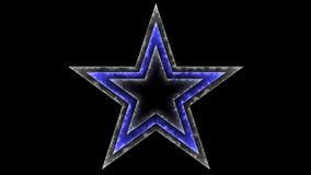 Star 017 - Glow Neon Colorful - Black Background. 4K Resolution stock illustration