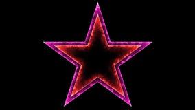 Star 011 - Glow Neon Colorful - Black Background. 4K Resolution Stock Illustration
