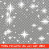 Star glow sparkling light effect over checkered backgro royalty free illustration