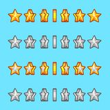 Star gold silver rotation set sprite game Stock Images