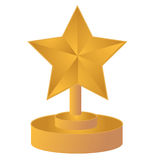 Star gold trophy Royalty Free Stock Image