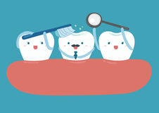 Star of good looking tooth vector illustration