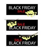 Star Gooseberry on Black Friday Sale Banner Royalty Free Stock Photo